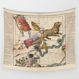 Ignace-Gaston Pardies - Globi coelestis Plate 4: Virgo, Hydra and other constellations 1693 Wall Tapestry