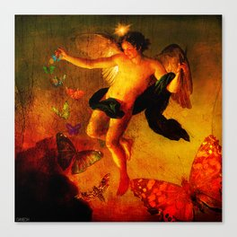 The angel sower of butterflies Canvas Print
