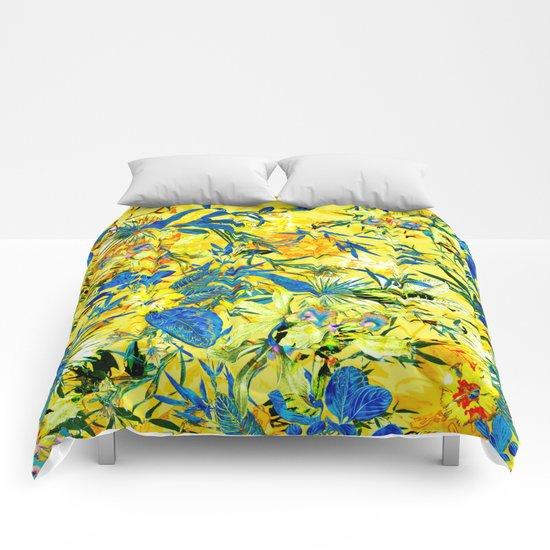 yellow tropical Comforters