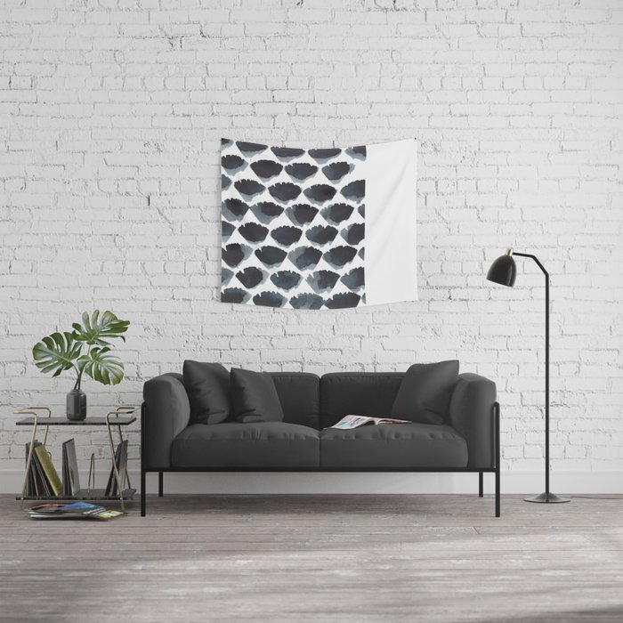Blue Fans Wall Tapestry