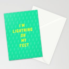 I'm Lightning On My Feet Stationery Cards