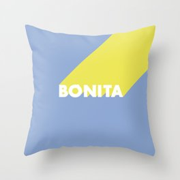 BONITA Blue Throw Pillow