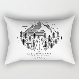 The mountains are calling and I must go- Nordic Rectangular Pillow