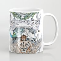 wild things Mugs featuring Wild Things by Carley Lee
