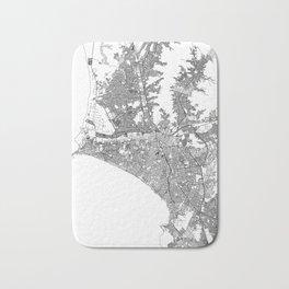 Lima White Map Bath Mat