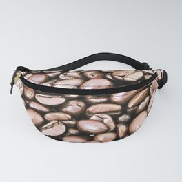 roasted coffee beans texture acrstd Fanny Pack