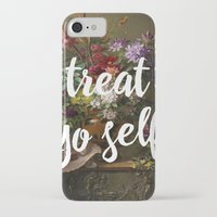 treat yo self iPhone & iPod Cases featuring treat yo self by ecce