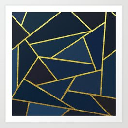 The Color of Navy And Gold Art Print
