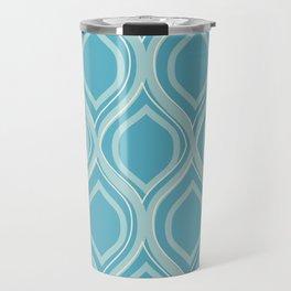 Abstract Turquoise Travel Mug