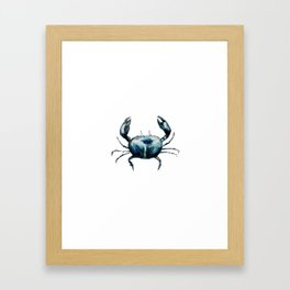 crab -watercolor Framed Art Print