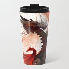 Ink Dragon Red Metal Travel Mug