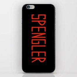 Egon Spengler Name Tag iPhone Skin