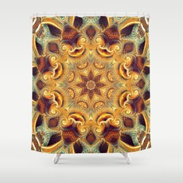 Flower Of Life Mandala (Native Roots) Shower Curtain