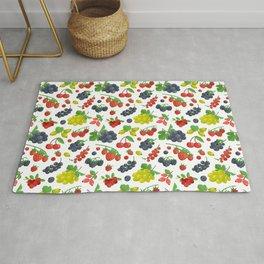 Colorful Berries Pattern Rug