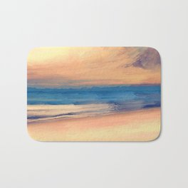 Approaching Sunset Abstract Seascape Bath Mat