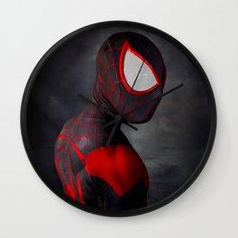Dark Spidey Portrait Wall Clock
