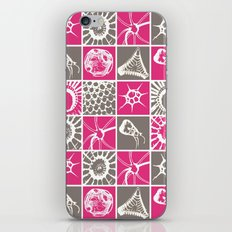 Microscopic Life Sillouetts Pink and Gray iPhone Skin