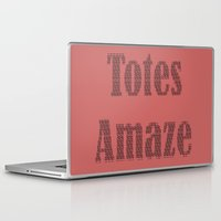 totes Laptop & iPad Skins featuring Totes Amaze Pink by Genevieve Moye