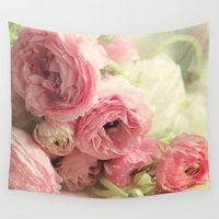 notebook Wall Tapestries featuring the first bouquet by Sylvia Cook Photography