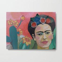 Frida Kahlo Detail Metal Print