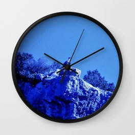 The blue vulture Wall Clock