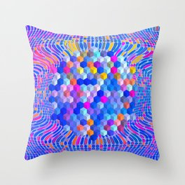 Surrender to the flow Throw Pillow