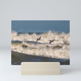 Between The Waves Mini Art Print