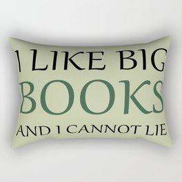 I like Big Books - Forest Green Rectangular Pillow
