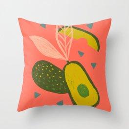 90s Style Avocado Throw Pillow