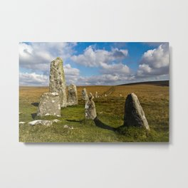 Dartmoor Stone Row Metal Print
