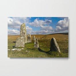 Dartmoor Stone Row Metal Print