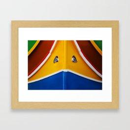 Maltese Boat - Luzzu Colours  Framed Art Print