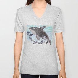 Killer Whale Ishmael Unisex V-Neck