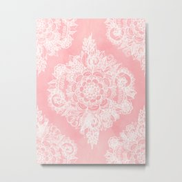 Marshmallow Lace Metal Print