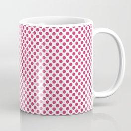 Raspberry Sorbet Polka Dots Coffee Mug