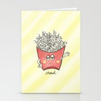 "french fries Stationery Cards featuring ""french"" fries by luoyunl"