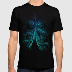Aqua Lungs Mens Fitted Tee Black MEDIUM