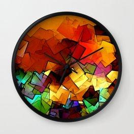towel full of colors -6- Wall Clock