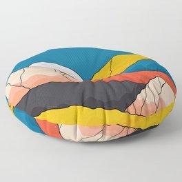 The mountainous range  Floor Pillow