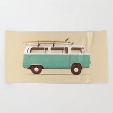 Blue Van Beach Towel