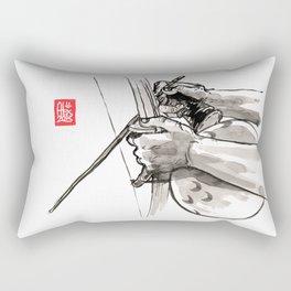 """Capoeira 482 """"Berimbau"""" Rectangular Pillow"""