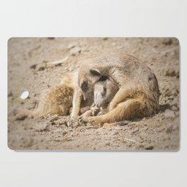 Two cute Meerkat in love Cutting Board