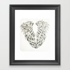 Inked Angel Wings Framed Art Print