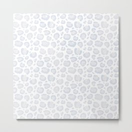 White & Light Gray Leopard Print  Metal Print