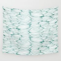 dancing Wall Tapestries featuring Dancing Feathers by Pom Graphic Design