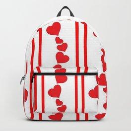 RED VALENTINES HEARTS  DESIGN Backpack