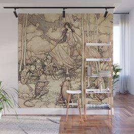 """Fairies and Elves"" by Arthur Rackham Wall Mural"