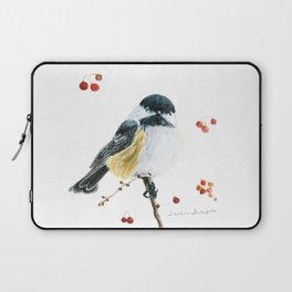 Christmas Chickadee by Teresa Thompson Laptop Sleeve