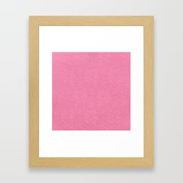 Girly trendy fuschia pink elegant floral french lace Framed Art Print