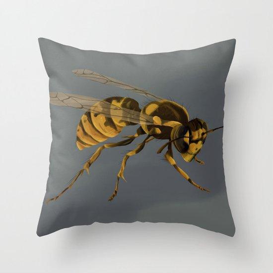 little wasp  Throw Pillow
